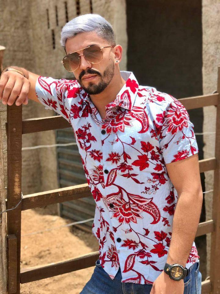 Camisas masculinas tropical