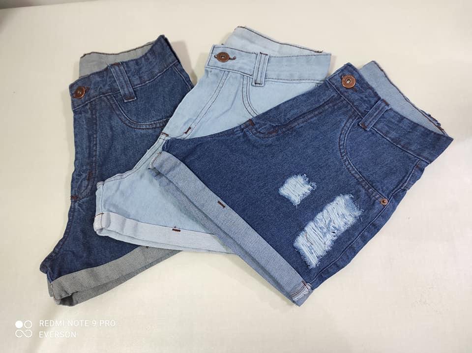 Short jeans 100% algodão