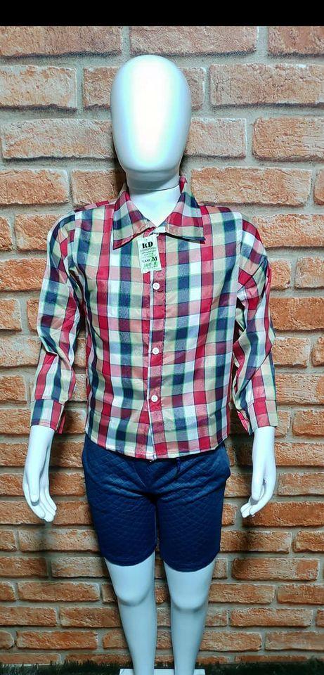Camisas xadrez Infanto juvenil