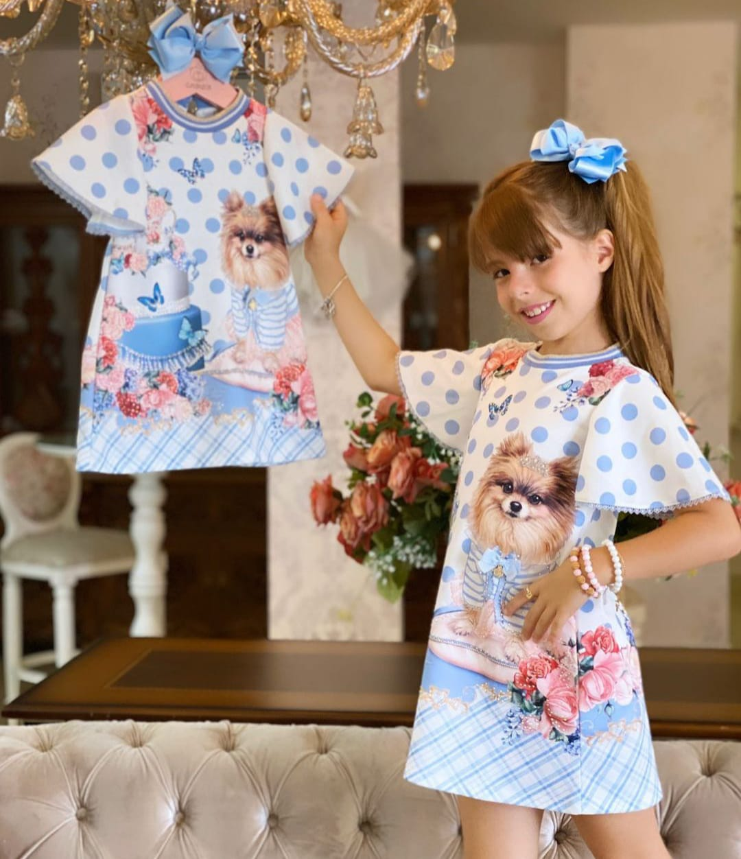 Vestidos infantil em neoprene