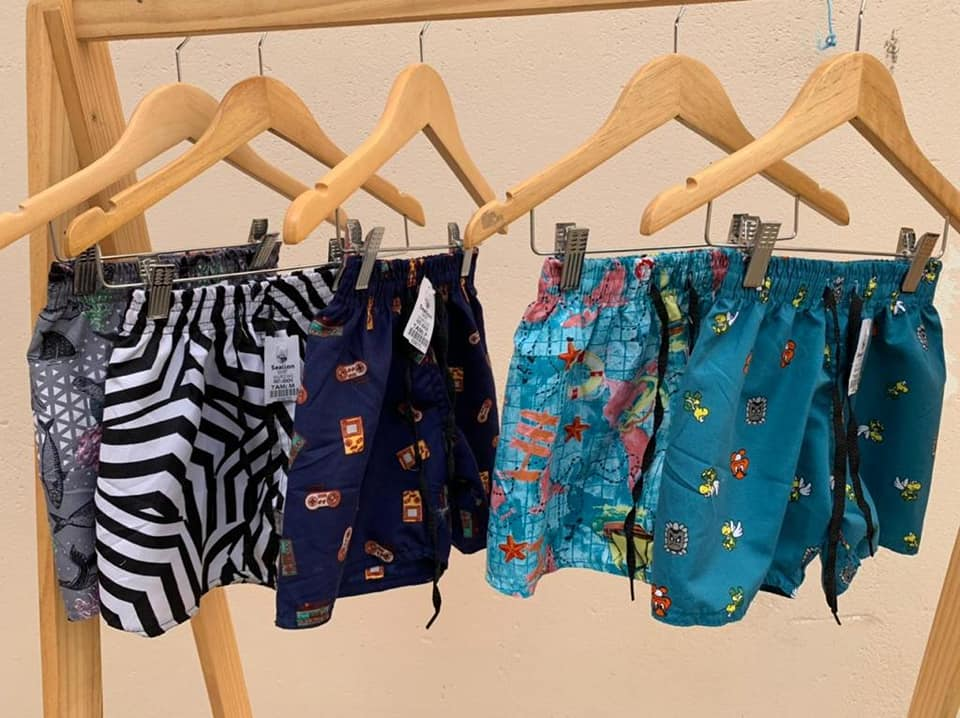 Shorts de tactel mauricinhos