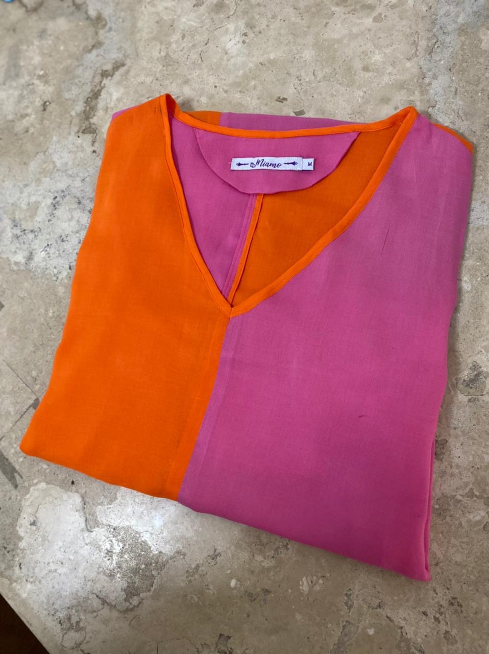 Chemises em tecidos leves , conjunto de cropped c/ calça