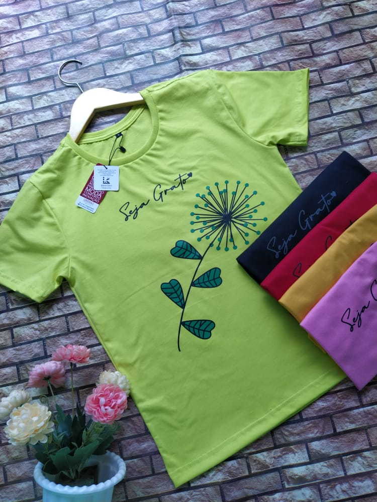 T'shirts Malha fio 30.1 Penteada